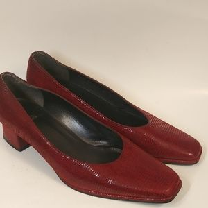 Stuart Weitzman Red Leather Pumps 8.6 B